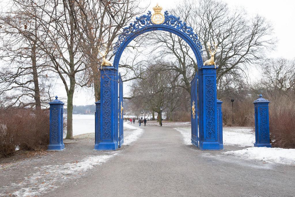 The Blue Gate- entrance (or exit) to Djurgården