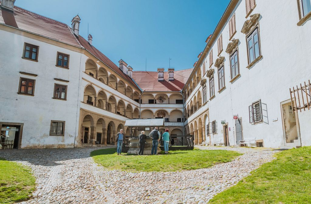 The courtyard of Ptuj Castle