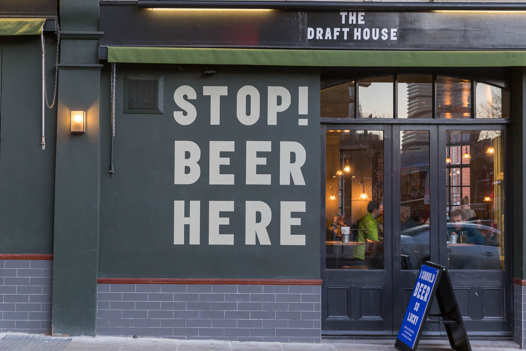 The Draft House: STOP! BEER HERE
