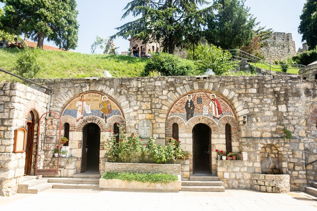 The old Orthodox Church of the Holy Petka at Kalemegdan in Belgrade