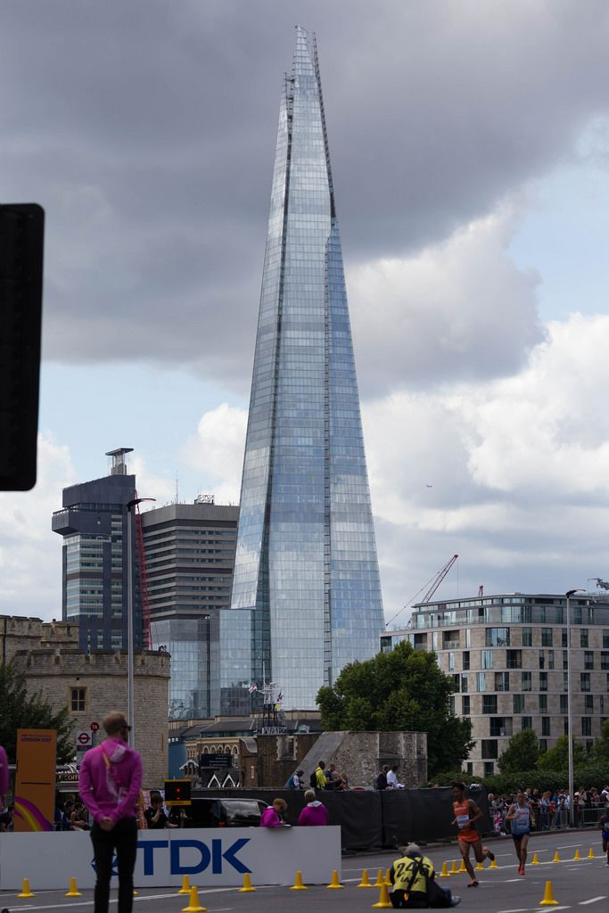 The Shard Turm - Marathon Finale bei den IAAF Leichtathletik-Weltmeisterschaften 2017 in London