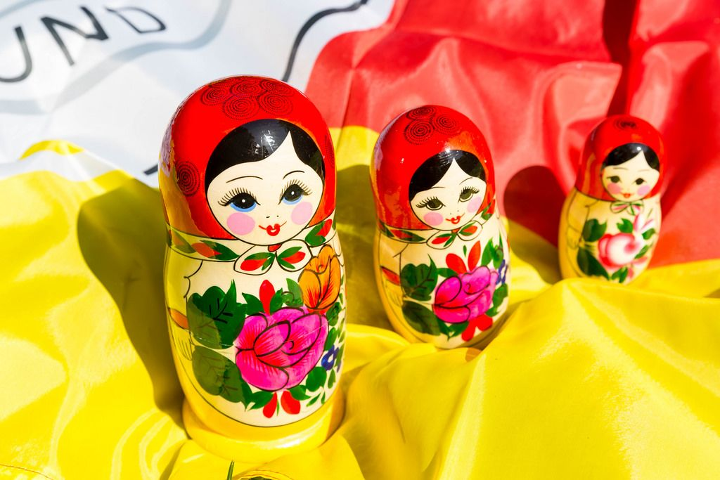 Three babushka dolls