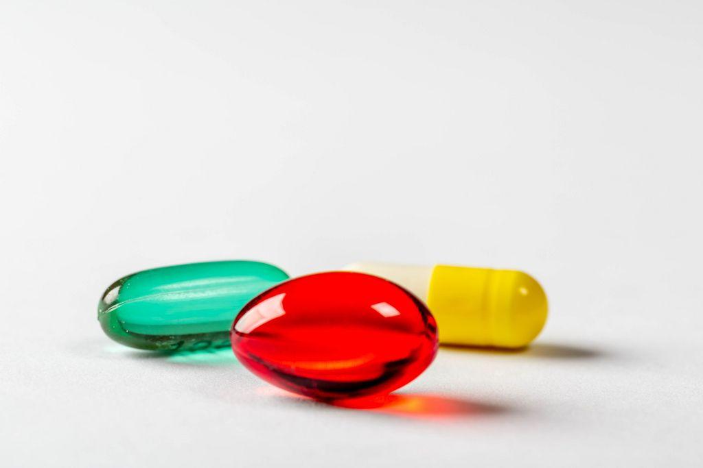 Three treatment capsules close-up
