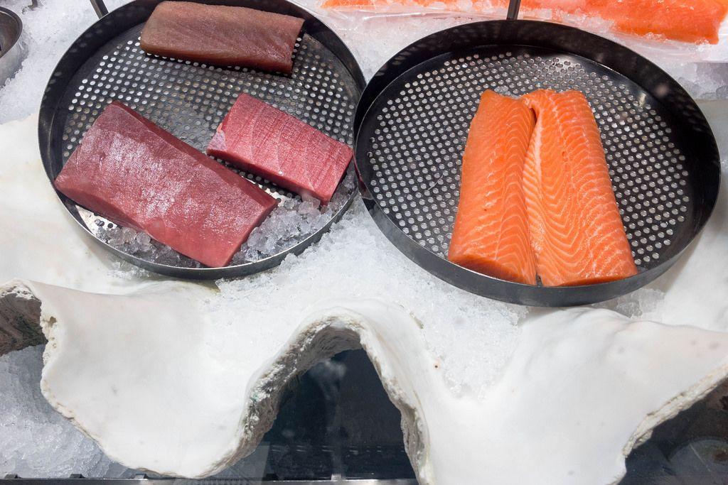 Thunfisch und Lachs