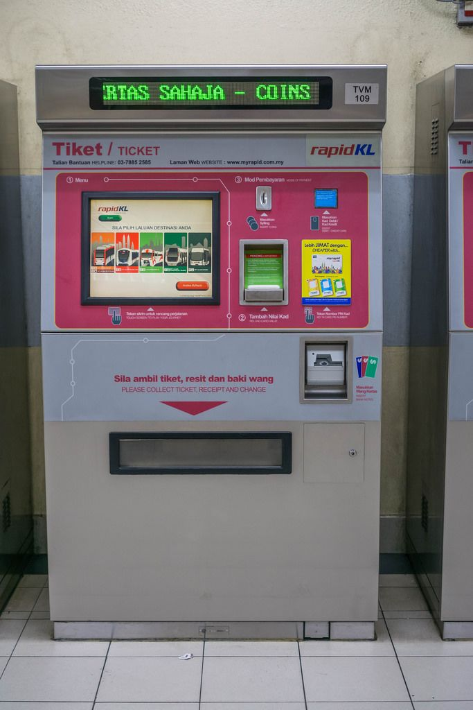 Ticket Vending Machine for the Train System in Kuala Lumpur