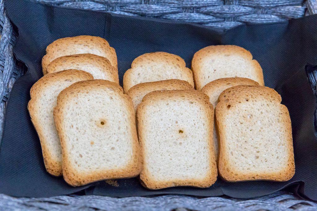 Toastbrot in einem Korb