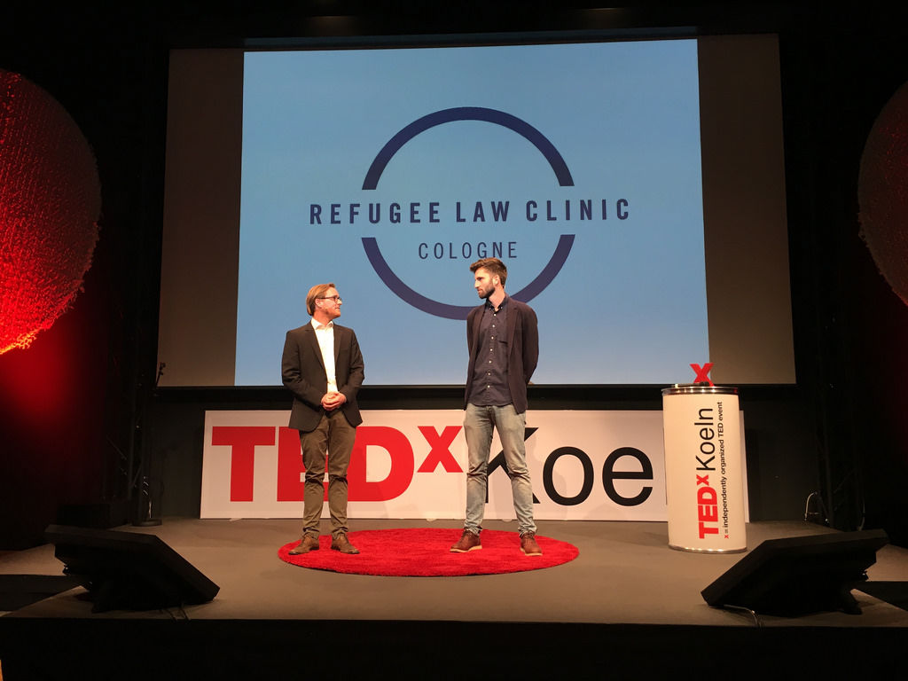 Tobias Brings und Maximilian Oehl von Refugee Law Clinic Cologne