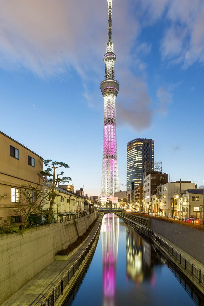 Tokyo Skytree: Blue Hour and Long Exposure with