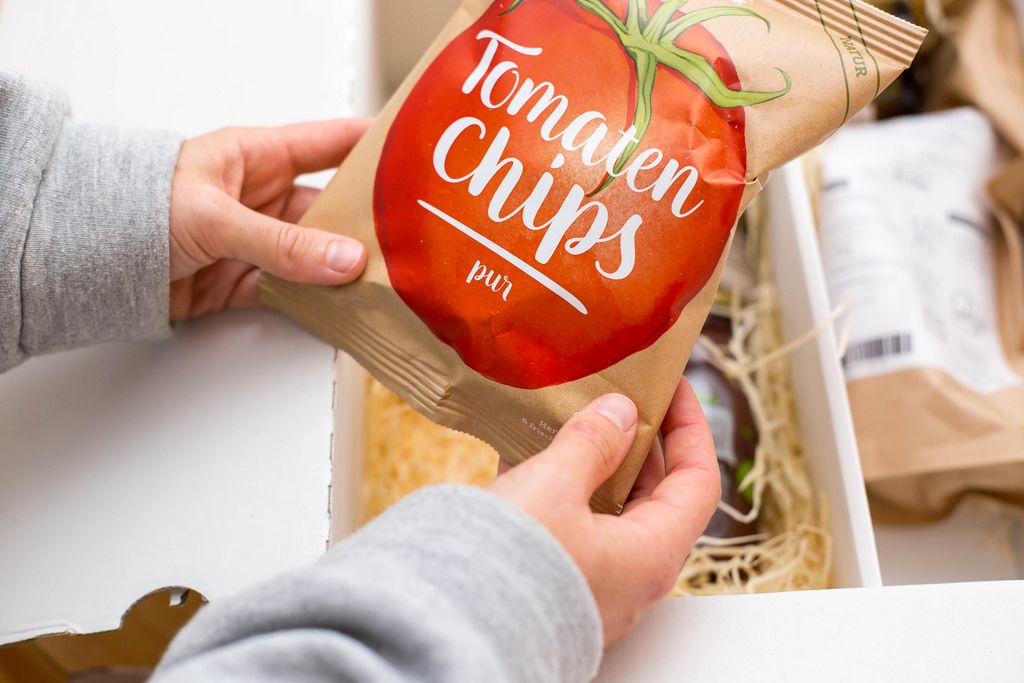 Tomaten Chips pur