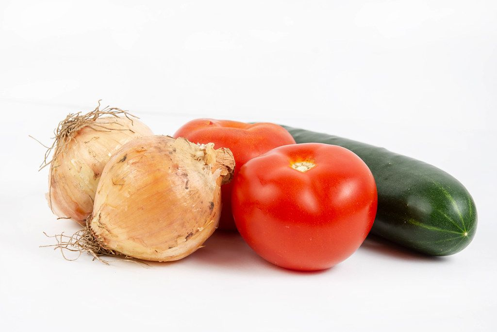 Tomato Cucumber and Onions