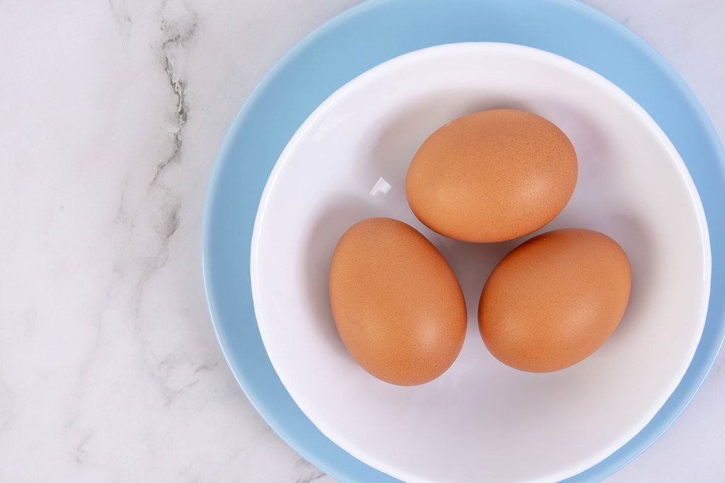 Top view above Hard Boiled Eggs