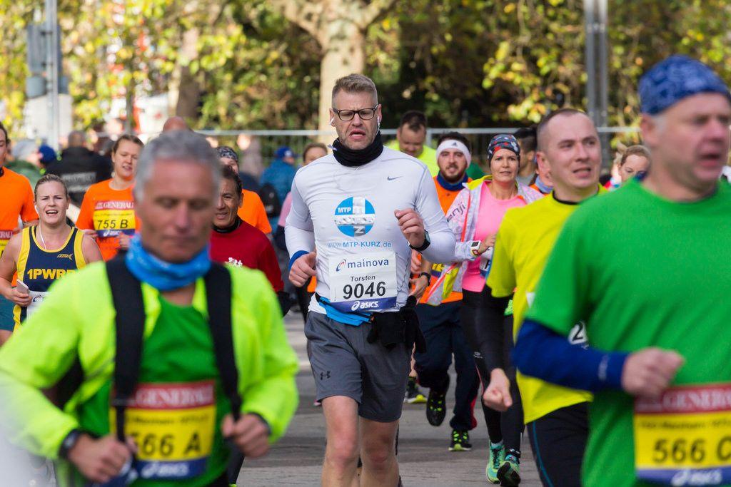 Torsten beim Laufen - Frankfurt Marathon 2017