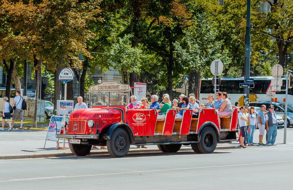 Tourist bus in Vienna