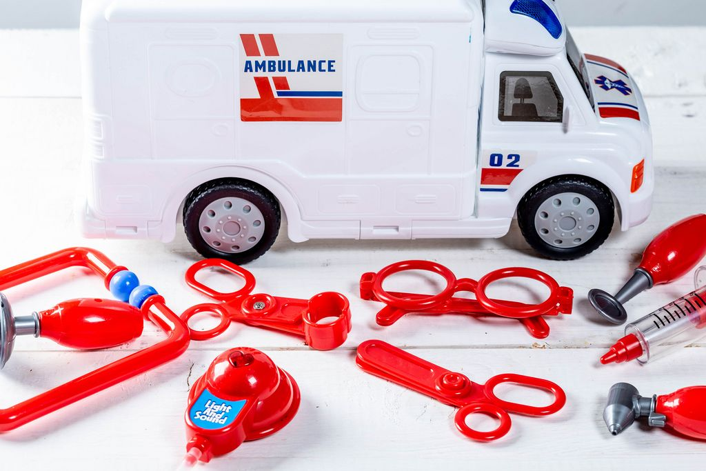 Toys medical equipment and ambulance
