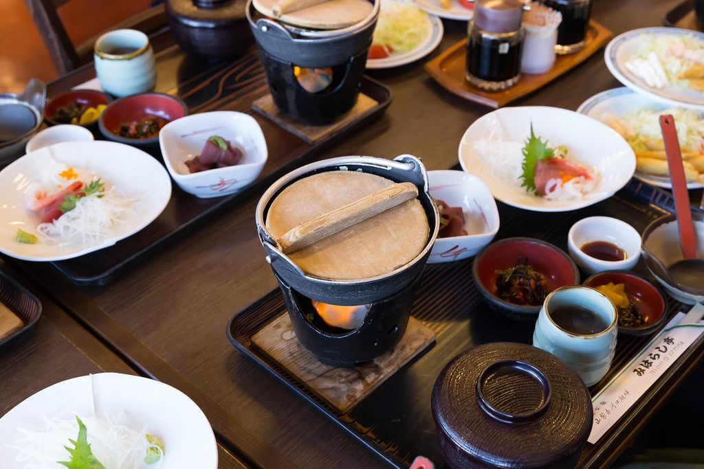 Traditional japanese lunch menu