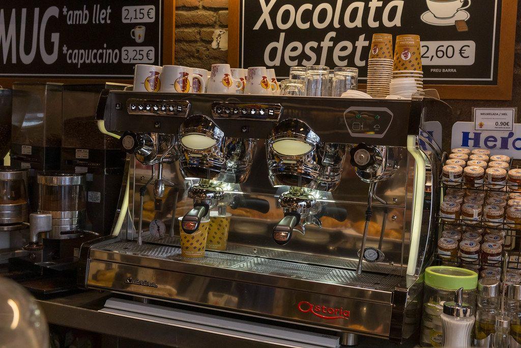 Traditionelle Kaffeemaschine Im Vintagelook Und Stil Der