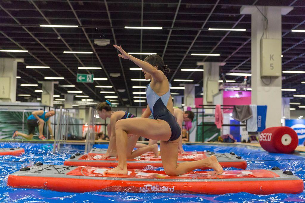 Training auf einem BEboard - FIBO Köln 2018