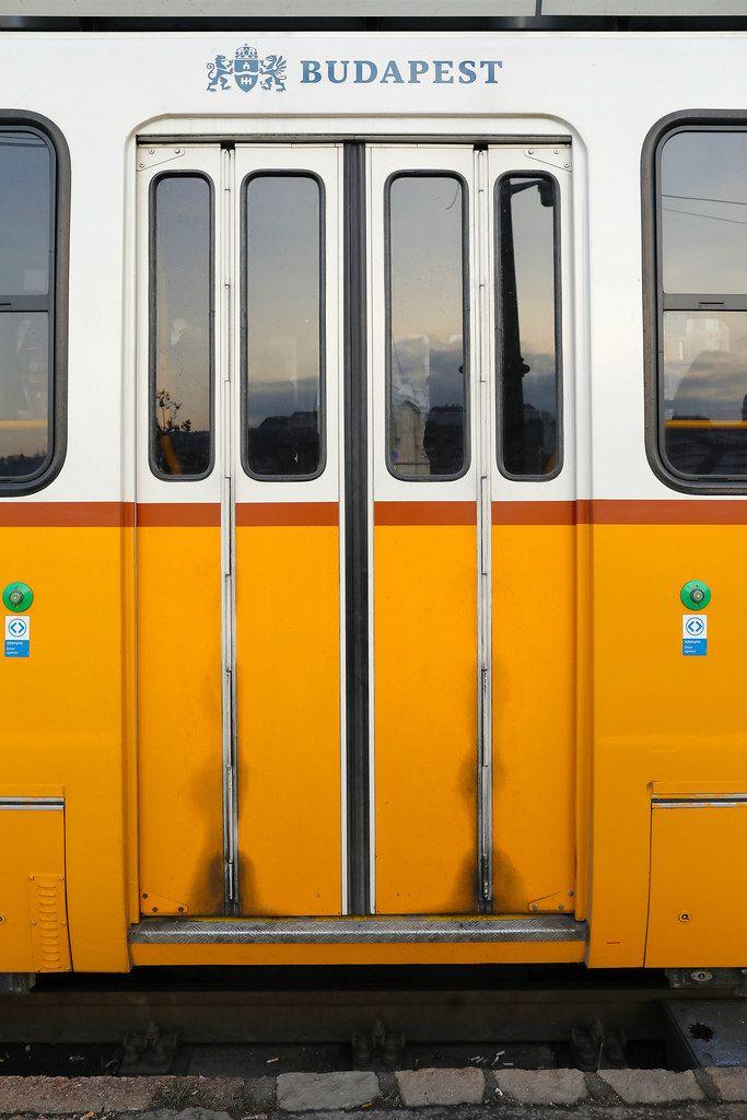 Tram in Budapest, door details