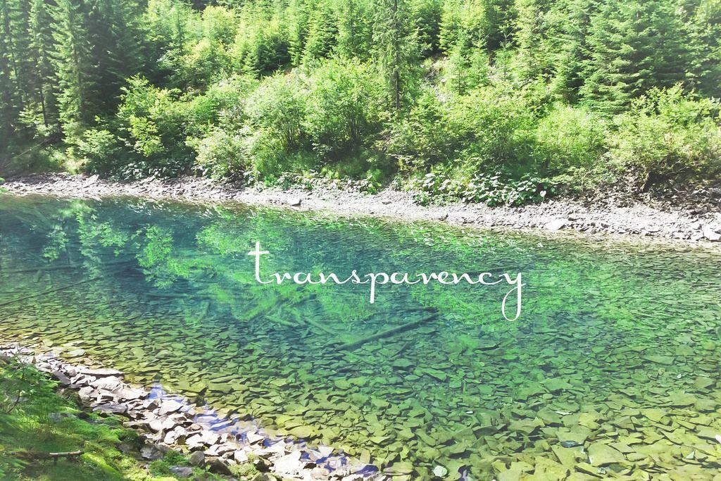 Transparency: See in den Bergen