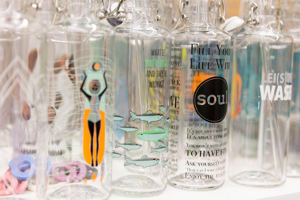 Trinkflaschen mit Bügelverschluss von Soul Bottles
