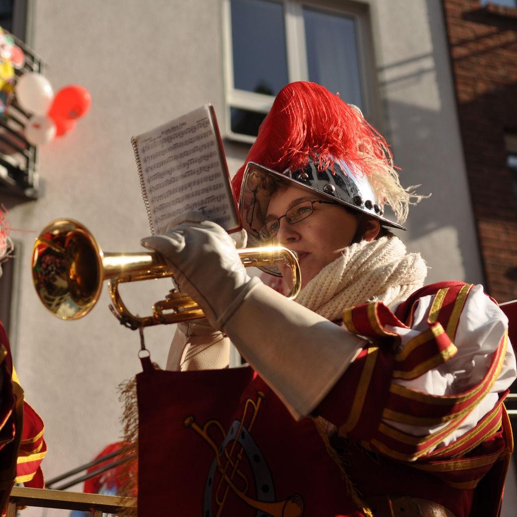 Trompetenspieler  am Rosenmontagszug 2012