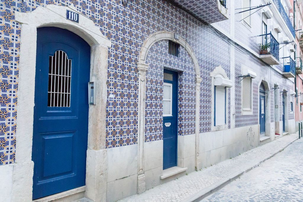 Typical House in Lisbon with Ceramic Wall