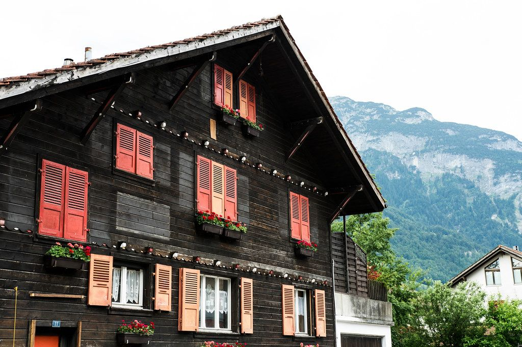 Typical Swiss home in the Alps (Flip 2019)