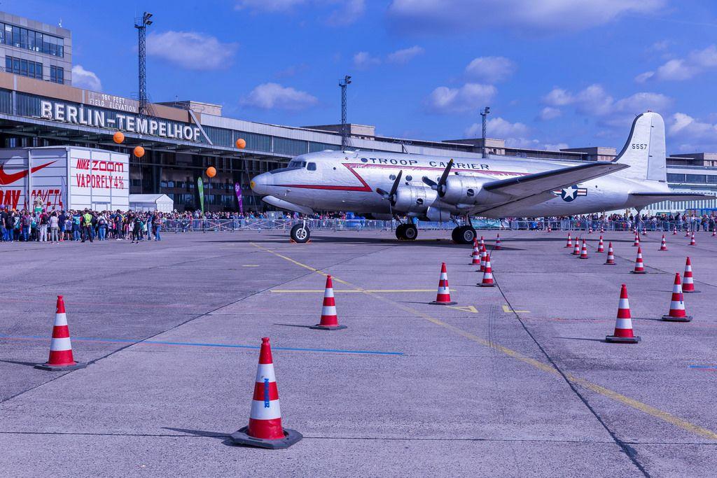 US-American troop carrier at Berlin Tempelhof Airport
