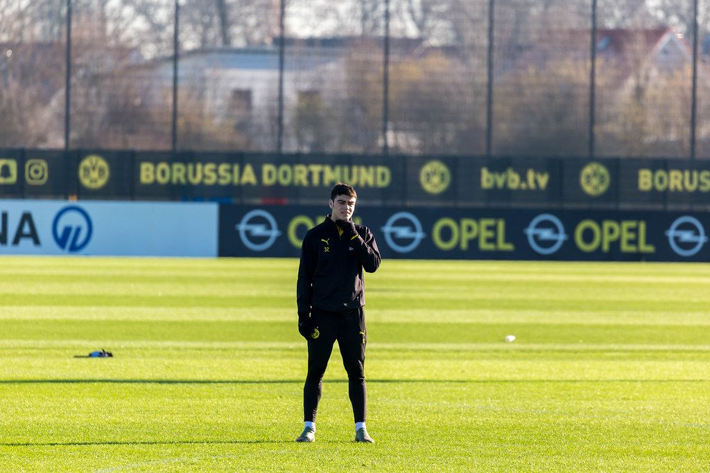 US soccer player Giovanni Reyna during a training with his German team, Borussia Dortmund