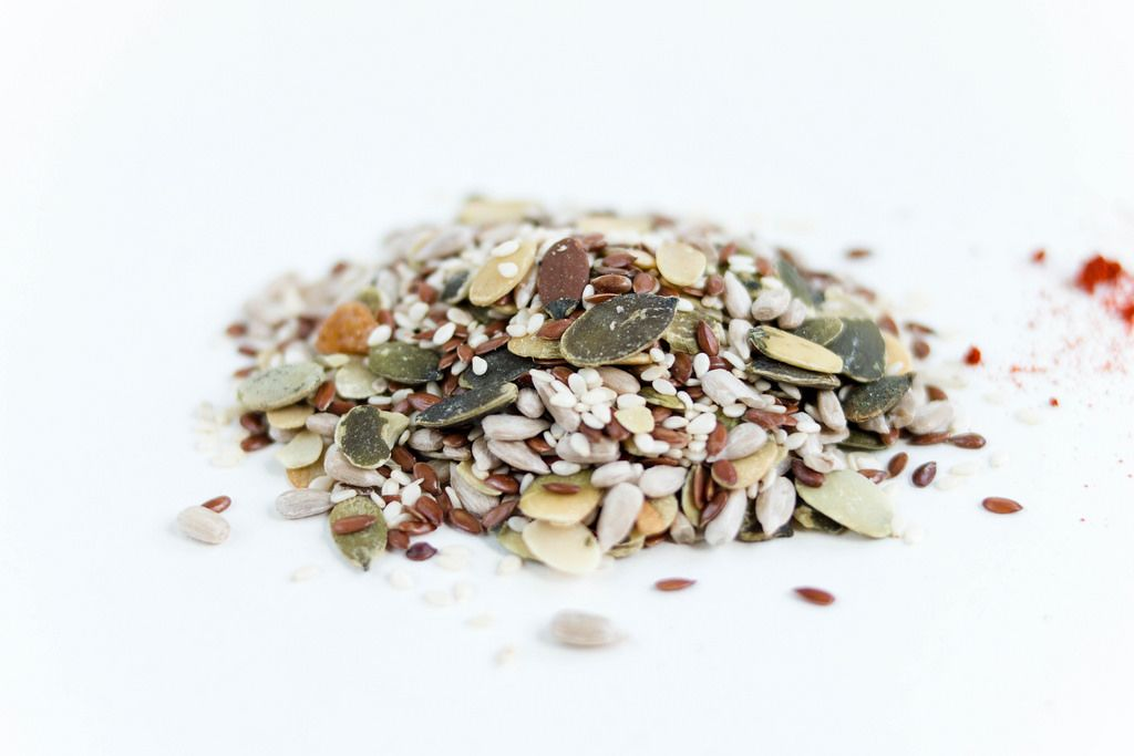 Various seeds , nuts seeds , pumpkin seeds