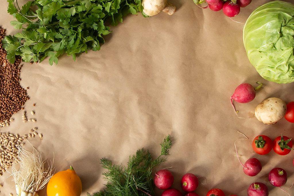 Vegan food background (Flip 2019)