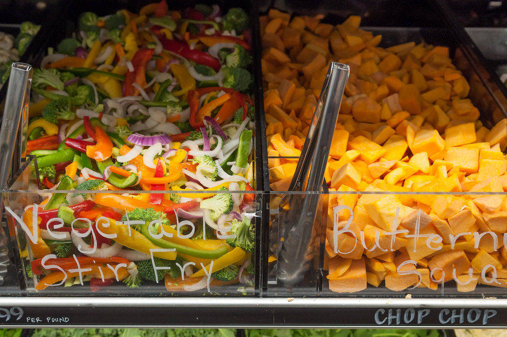 Vegetables in Whole Food Market Boston