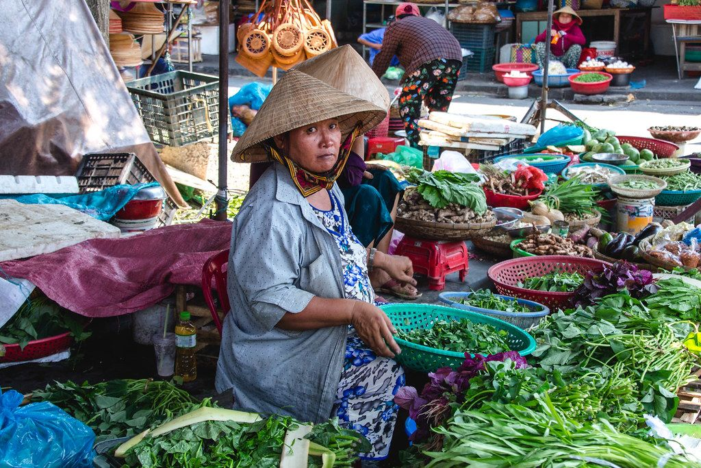 Vegetables Sale Women at the Market Hoi Ann  (Flip 2019)