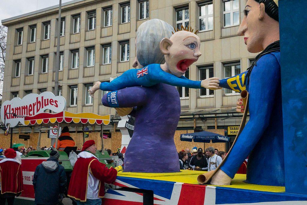 Vereinigtes Königreich als Baby verlässt die Mutter EU - Kölner Karneval 2018