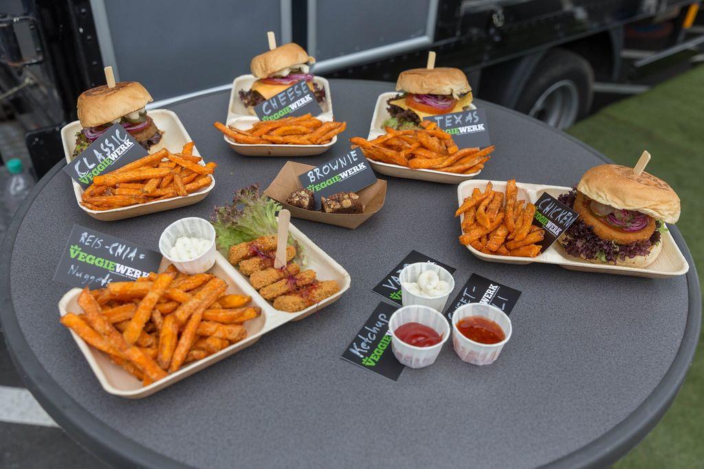 Verschiedene vegane Burger von Veggiewerk
