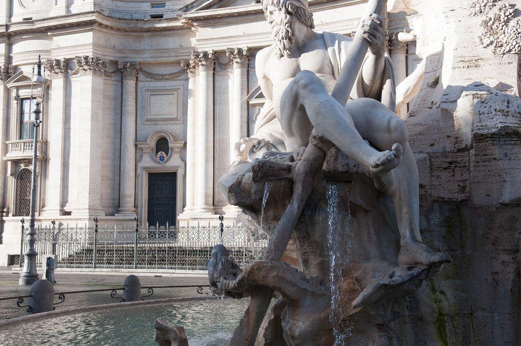 Vierströmebrunnen in Rom, Italien
