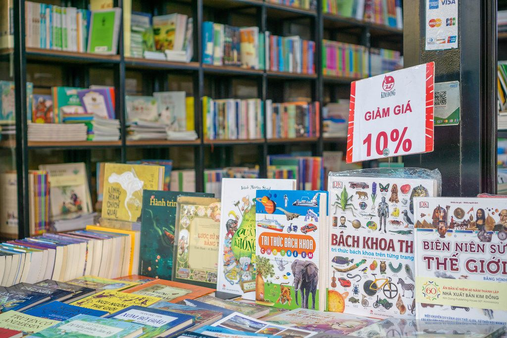 Vietnamese Book Store in District 1 of Ho Chi Minh City