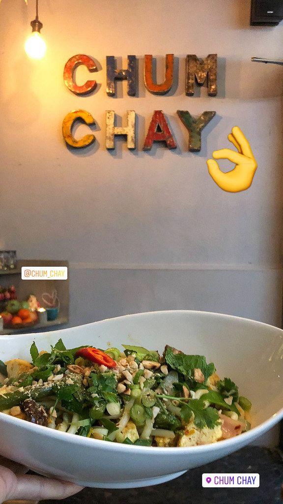 Vietnamesische Spezialität für Vegetarier mit Gemüse und Nudeln bei Chum Chay in Köln