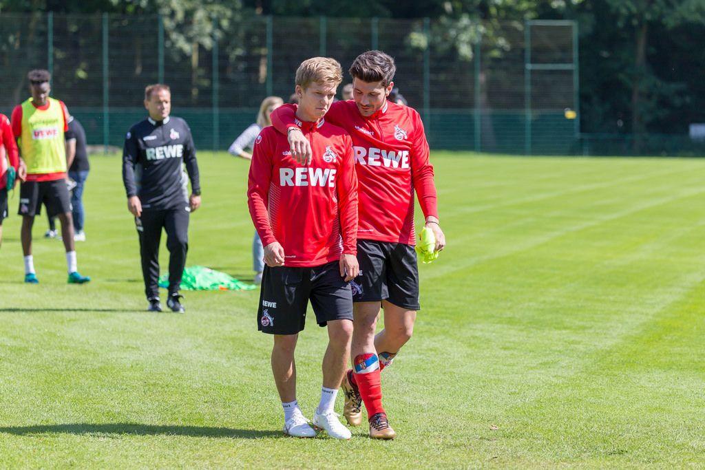 Vincent Koziello und Milos Jojic beim Training am 25.06.2018