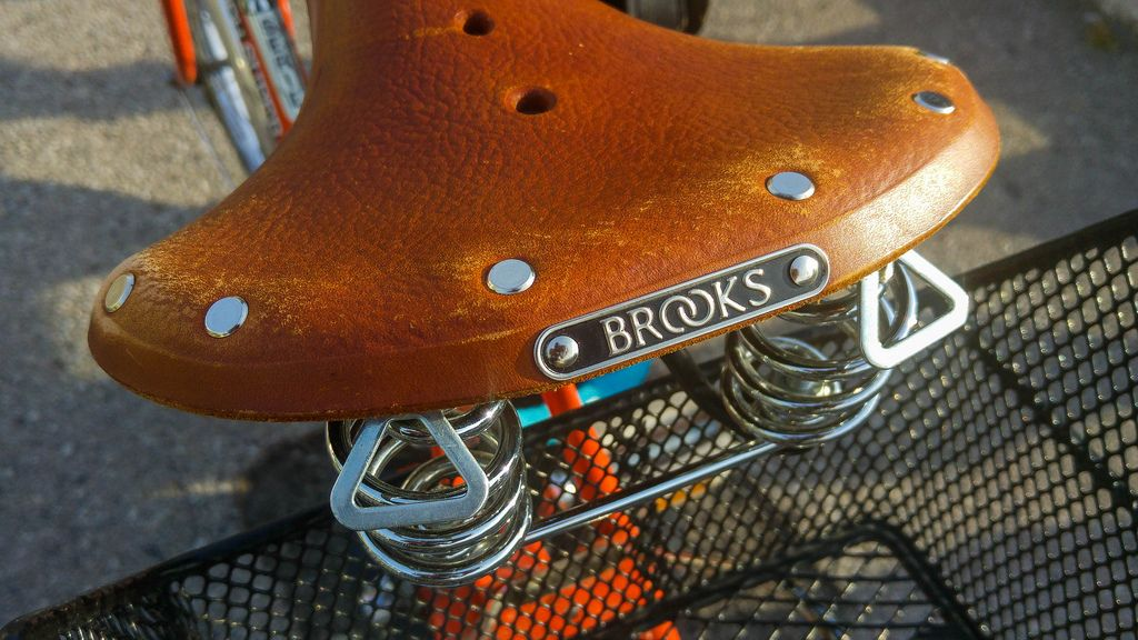 Vintage Brooks bicycle seat with springs