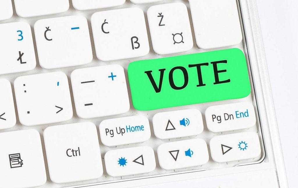 Vote green keyboard button
