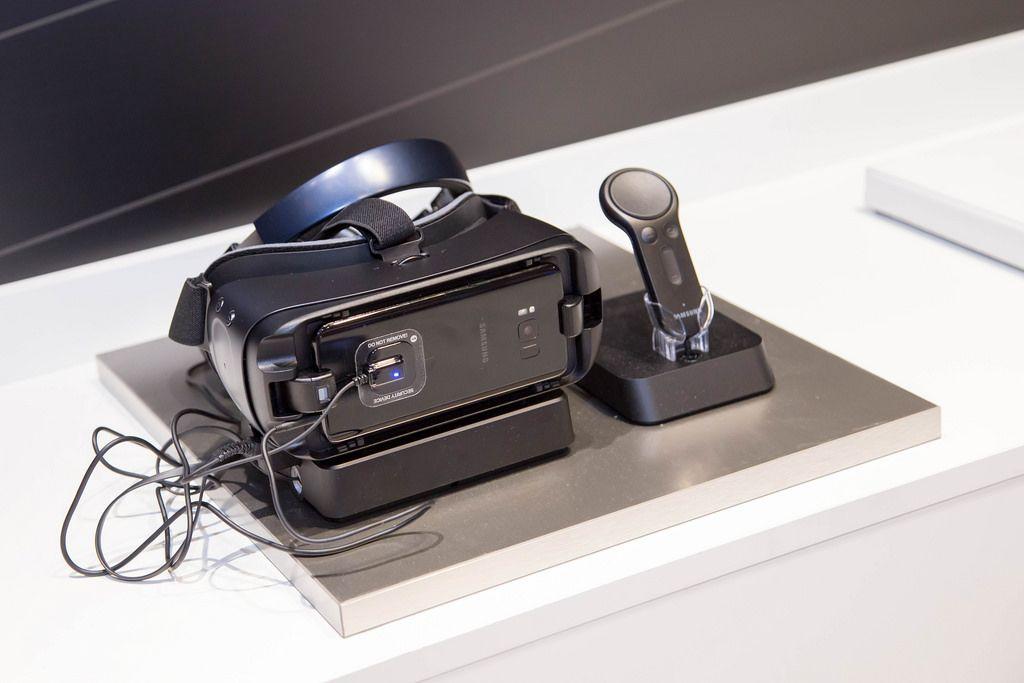 VR-Brille von Samsung bei der Gamescom 2017