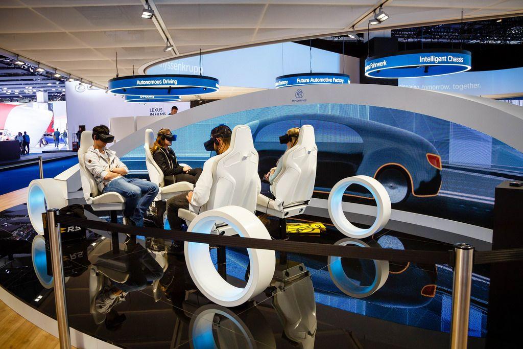 VR für autonomes Fahren, E-Mobility, Intelligente Fahrwerksysteme von ThyssenKrupp