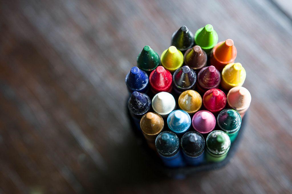 Wachsstifte in verschiedenen Farben