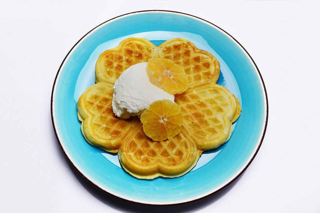 Waffles with whipped cream (Flip 2019) (Flip 2019) Flip 2019