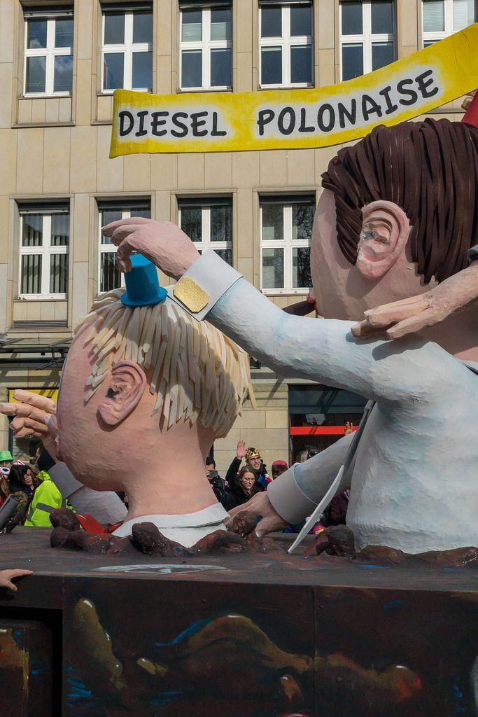 Wagen mit der Aufschrift Diesel Polonaise - Kölner Karneval 2018