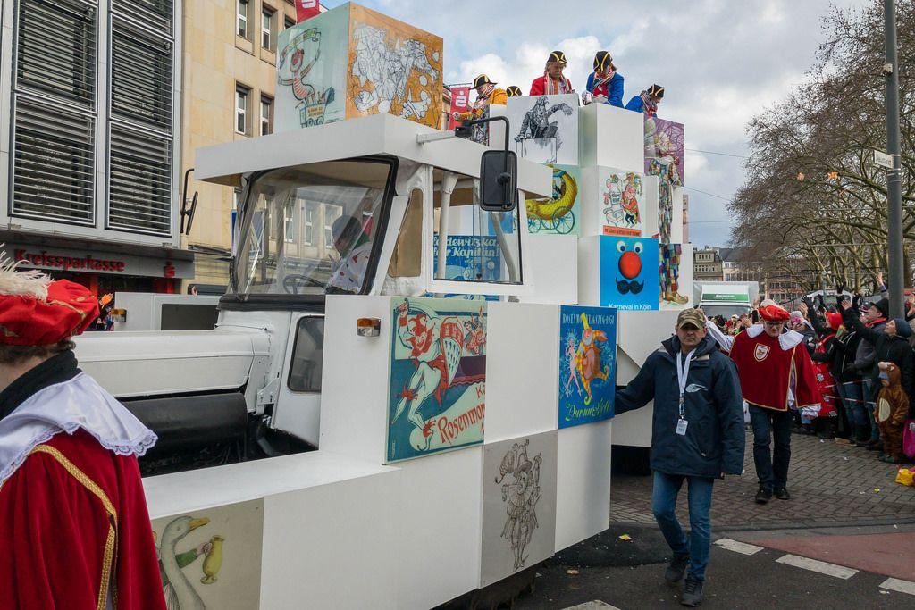 Wagen mit Marschliedern - Kölner Karneval 2018