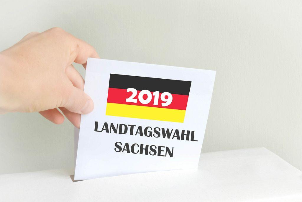 Wahlurne: Landtagswahl Sachsen 2019