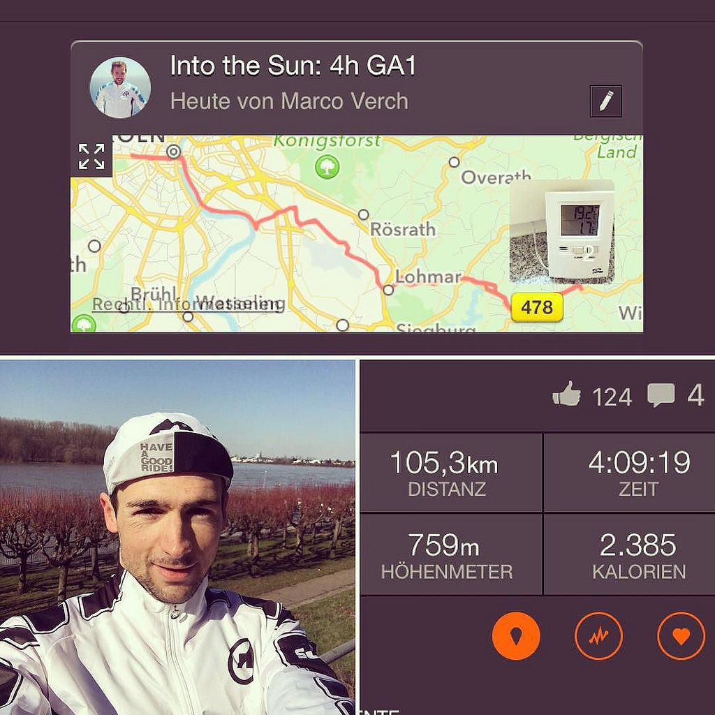 Waiting for that moment when temperature is not falling anymore in order to go out for an incredible early bird ride. #earlybird #ironmantraining #ironmanfrankfurt #assos #sun #happy #biking