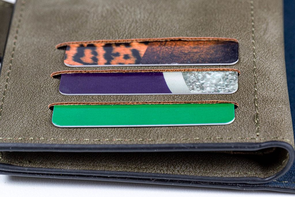 Wallet with credit cards, close up